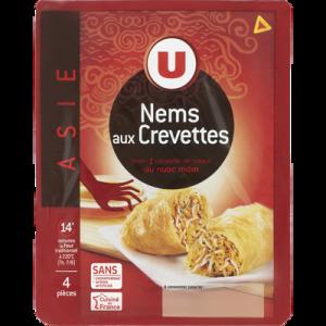 Nems aux crevettes x4 + sauce nuoc mam U, 290g