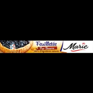 Pâte à tarte feuilletée pur beurre MARIE, 230g