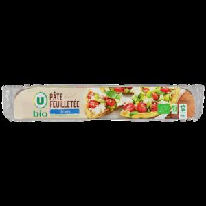 Pâte à tarte feuilletée pur beurre bio U, 230g