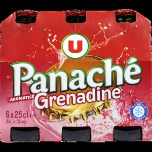 Panaché aromatisé à la grenadine U, 6 bouteilles de 25cl