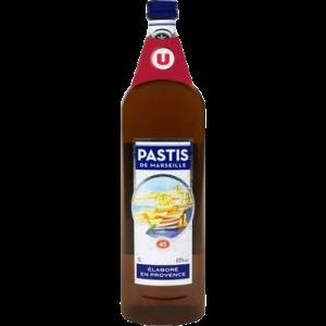 Pastis de Marseille U, 45°, bouteille de 1 litre