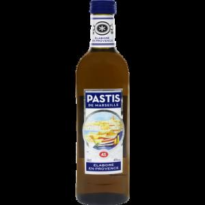 Pastis de Marseille U, 45°, bouteille de 50cl