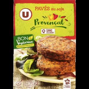 Pavés au soja provençal bon & végétarien U, barquette de 2 soit 200g