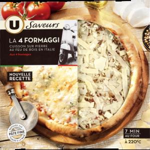 Pizza 4 formaggi saveurs U, 400g