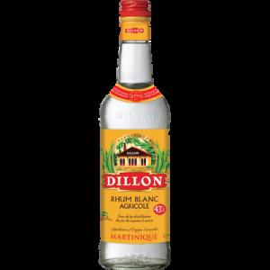 Rhum blanc agricole AOC de la Martinique DILLON, 43°, bouteille de 70cl