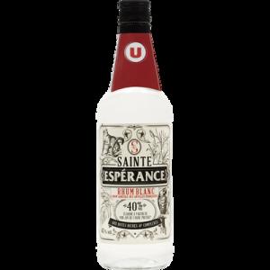 Rhum blanc agricole Sainte Espérance U, 40°, bouteille de 70cl