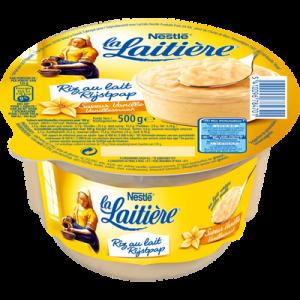 Riz au lait saveur vanille LA LAITIERE, 500g