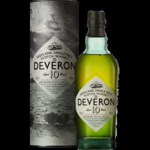 Scotch whisky GLEN DEVERON, 10 ans d'âge, 40, 70cl sous coffret