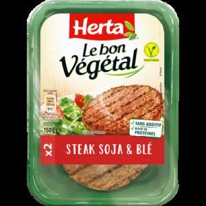 Steak de soja et blé, HERTA Bon Végétal, 150g