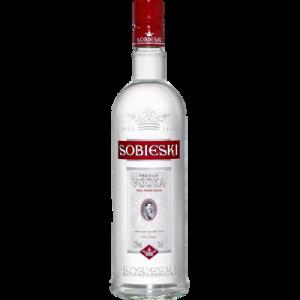 Vodka SOBIESKI, 37,5°, bouteille de 70cl, nouvel habillage