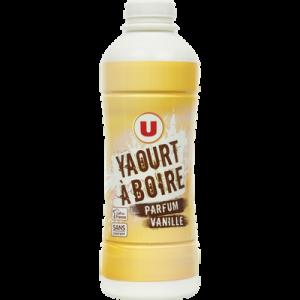 Yaourt à boire parfum vanille U, bouteille de 850g