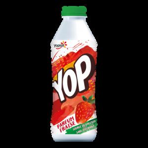 Yaourt à boire sucré aromatisé fraise YOP, 825g