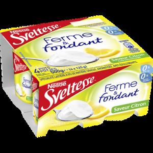 Yaourt maigre saveur citron Ferme&Fondant SVELTESSE, 4x125g