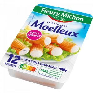Bâtonnets de surimi moelleux saveur crabe FLEURY MICHON, x12 200g