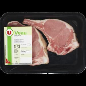 Côte de veau , avec os, à griller, U, France, 2 pièces 340 g