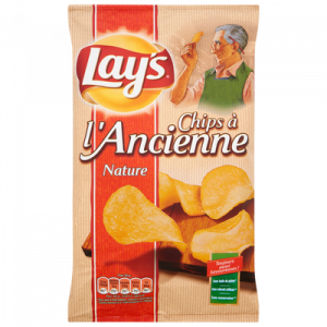 Chips à l'ancienne nature LAY'S, sachet de 150g