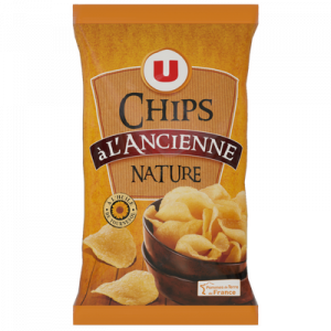Chips à l'ancienne nature U, sachet de 150g