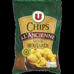 Chips à l'ancienne saveur moutarde U, paquet de 135g