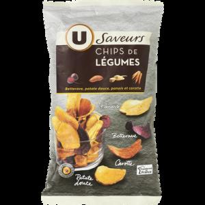 Chips de légumes U SAVEURS, paquet de 100g