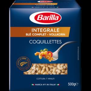 Coquillettes au blé complet Intégrali BARILLA, 500g