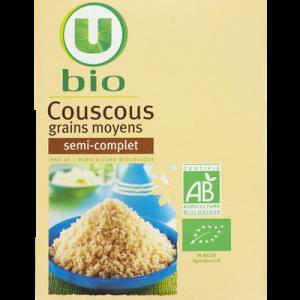 Couscous semi-complet U BIO, boîte de 500g