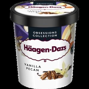 Crème glacée Vanilla noix de pécan HÄAGEN DAZS, pot de 400g