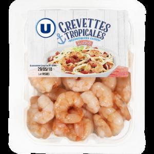 Crevettes tropicales décortiquées cuites ASC U 100g