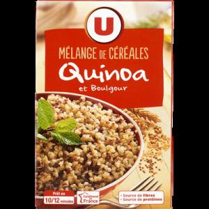 Duo de céréales quinoa et boulgour U, paquet de 400g