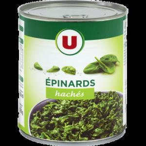 Epinards hachés U boîte 44 795g