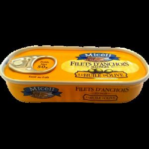 Filets d'anchois allongés à l'huile d'olive MICELI, 50g