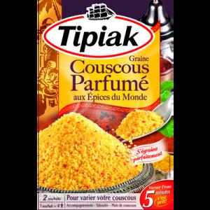 Graine de couscous aux épices du monde TIPIAK, 2 sachets de 255g