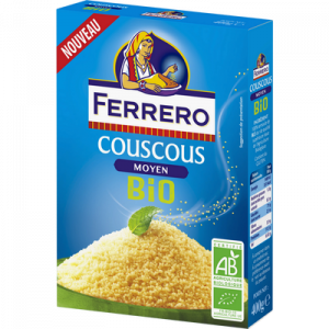Graines de couscous moyen bio FERRERO, bôite de 400g