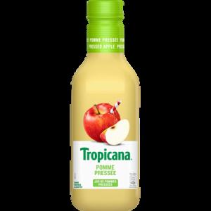 Jus de pommes pressées TROPICANA, bouteille en plastique de 90cl