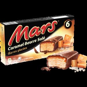 MARS glacés au caramel au beurre salé, x6