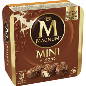 Mini amandes MAGNUM, 6 unités, 276g