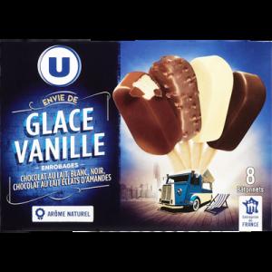 Mini bâtonnets envie de chocolat U, 8 unités, 258g