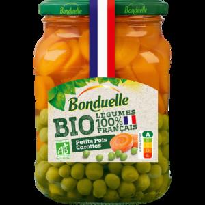 Petits pois carottes BIO BONDUELLE, boîte de 530g