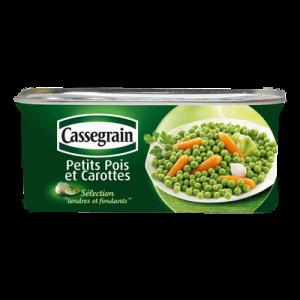 Petits pois et carottes Mélange Printanier CASSEGRAIN, 130g