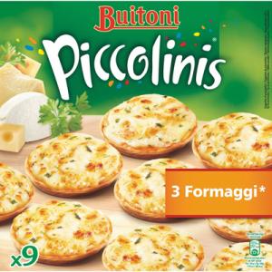 Piccolinis 3 formaggi BUITONI, x9, soit 270g