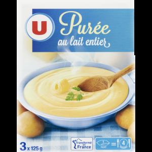 Purée au lait entier U, paquet de 375g