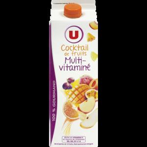 Pur jus cocktail multifruits U, brique de 1l