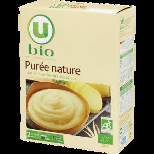 Puree nature U BIO, 2 boîtes de 125g