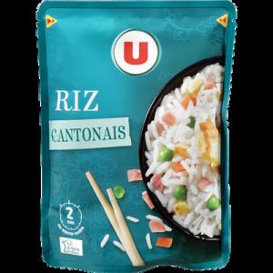 Riz Cantonais micro-ondable 2 minutes U, sachet de 250g