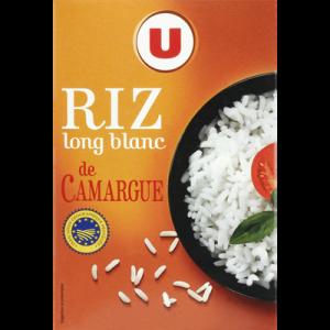 Riz de Camargue long grain U, étui de 1kg