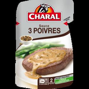 Sauce aux 3 poivres, CHARAL, 120g
