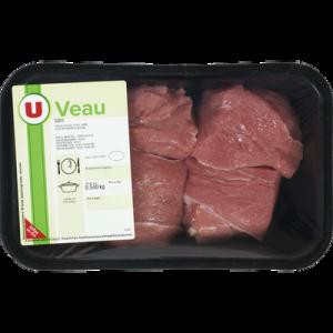 Sauté de veau , à mijoter, U, France 515 g
